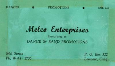 Melco Enterprises-1964-Business Card