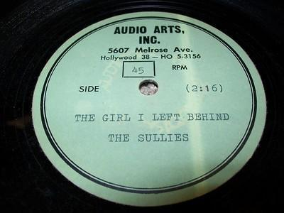 Ascetate Recording by The Sullies - 1965